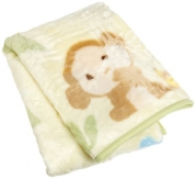 Carters Snoozysnug Blanket, Green/Brown