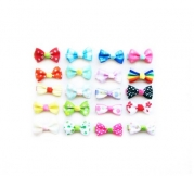 Ema Jane - Assorted Set of 20 Cute Vintage Hair Bow Clips (10 Matching Pairs) - Perfect for Newborn, Baby, Toddler, Girls, Youth