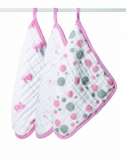 aden + anais Muslin Washcloths, Bathing Beauty, 3-Pack