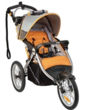 Jeep Overland Limited Jogging Stroller with Front Fixed Wheel, Fierce