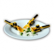 Constructive Eating 3-pc. Construction Utensil Set.