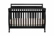 DaVinci Emily 4 in 1 Crib with Toddler Rail, Ebony