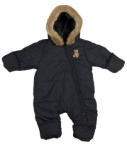 Arctix Infant/Toddler One Piece Hooded Snow Suit (12-18 Months, Navy)