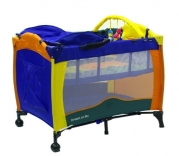 Dream On Me Deluxe Adjustable Height Play Yard with Changing Area