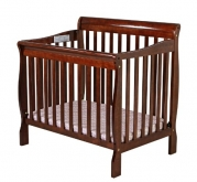 Dream On Me 3 in 1 Aden Convertible Mini Crib, Espresso