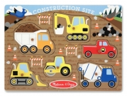 Melissa & Doug Construction Site Peg Puzzle