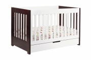 Babyletto Mercer 3 in 1 Convertible Crib with Toddler Rail, Two Tone