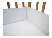 American Baby Company 100% Cotton Percale Cradle Bumper, White