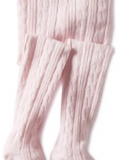 Jefferies Socks Baby-girls Infant Cable Tight, Pink, 6-18 Months