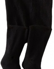 Country Kids Baby-girls Infant Organic Winter 1 Pair Tights, Black, 12-24 Months