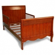 Solid Panel Sleigh Toddler Bed - Color: Cherry