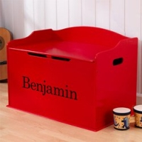 Personalized Austin Toy Box- Red