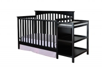 Dream On Me Chloe 5 in 1 Convertible Crib with Changer in Black