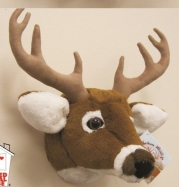 11 White Tailed Deer Head Plush Stuffed Animal Toy