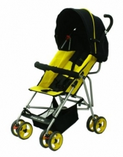 Dream On Me Single Stroller with large Canopy, Yellow