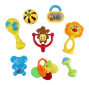 Animal Fun 8 Piece Baby Rattle and Teether Toy Gift Set - Colors May Vary