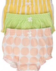 Baby Aspen Baby  Bunch O'Bloomers Three Bloomers for Blooming Bums, Multi, 0-6 months