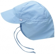 i play. Solid Flap Sun Protection Hat, Light Blue, Infant (6-18 Months)