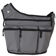 Diaper Dude Grey Pinstripe Original Messenger Diaper Bag