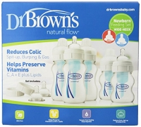 Dr. Brown's Natural Flow Wide Neck Newborn Feeding Set