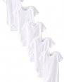 Gerber Unisex-Baby 5 Variety Pack Onesies Brand, White, 0-3 Months