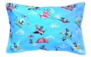 100% Cotton Toddler Pillowcase in BLUE YONDER by A Little Pillow Company (13.5 in x 19.5 in)