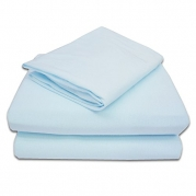 American Baby Company 100% Cotton Jersey Knit Toddler Sheet Set, Blue