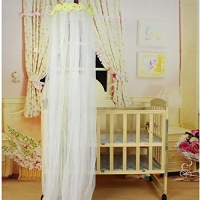 Soft Breathable Baby Mosquito Net Baby Toddler Bed Crib Canopy Netting