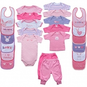 24-Piece Coordinating Outfits Gift Cube, Pink