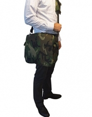 #1 Seller Daddy Depot Messenger Diaper Bag. Unique Camoflauge Tactical Design, Light Weight, Insulated Bottle Pockets, Phone Holder, Shoulder Strap and Pad, Changing Pad - Great Gift Idea for New Dads