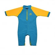 Fiji Sun Protective Baby Suit by Nozone in Aqua/Buttercup, 0-6 months