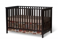 Child Craft London Euro Style Stationary Crib, Jamocha (Discontinued by Manufacturer)
