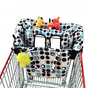 (Limited Time Sale $19.98) crocnfrog 2-in-1 Shopping Cart & High Chair Cover for Baby- Machine Washable, Free eBook
