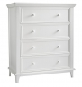 Kolcraft Transitional 4-Drawer Dresser, White by Kolcraft