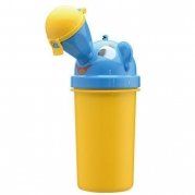 Portable Baby Child Potty Urinal Boy Toddler Potty Training for Camping Car Travel Girl Travel Potty Urinal Training Toilet (Yellow for boy)