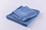100% Bamboo Washcloths. Luxurious Set of 2 Easy to Clean with Organic and Soft By Right Purpose. Anti Bacterial and Durable. (Blue)