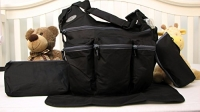 SoHo Daddy, Grand Central 4 pieces Diaper Bag set *Limited time offer !* (BLACK)