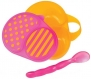 Sassy First Solids Bowl & Spoon - Pink/Orange