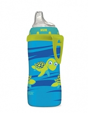 NUK Blue Turtle Silicone Spout Active Cup, 10-Ounce