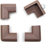 Roving Cove 16pc Safe Corner Cushion - Value Pack, Coffee Brown; Childproof Corner Guard