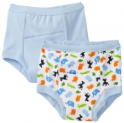 Green Sprouts Boys-baby Infant Training 2 Pack Underwear, Blue, 3T