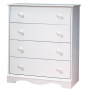 South Shore Furniture, 4 Drawer Chest, Pure White