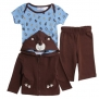 Baby Togs Baby-Boys Newborn Creeper Set, Brown, 3-6 Months