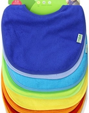 Green Sprouts Waterproof Absorbent Terry Bibs, Boys, 10 Count
