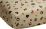 Carter's Forest Friends Fitted Sheet, Tan/Choc, 28 X 52
