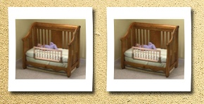 KidCo convertible crib bed rail finish: natural
