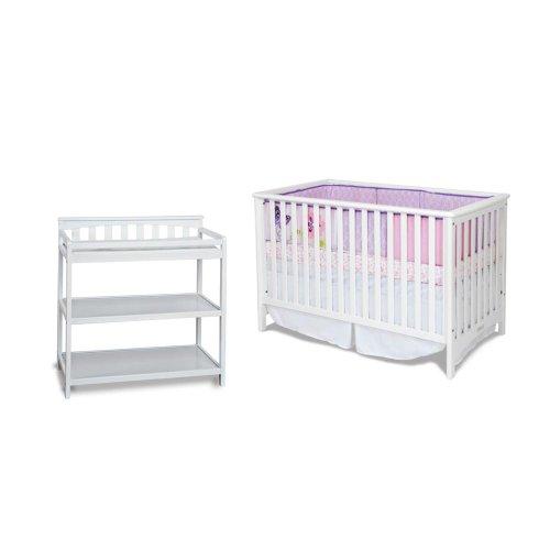 Child craft london euro crib and flat top changing table for Child craft changing table
