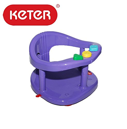 keter baby bath seat ring bathtub tub plastic purple color for 7 16 months max 13kg 28. Black Bedroom Furniture Sets. Home Design Ideas